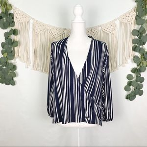 Adrianna Papell | Striped Blouse, NWOT, Size L